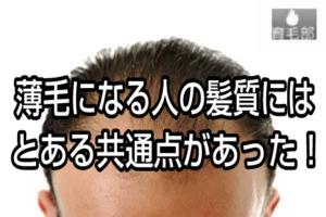 禿げる人の髪質